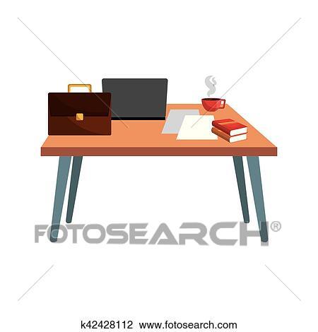 Bürotisch clipart  Bürotisch, arbeitsstelle Clipart