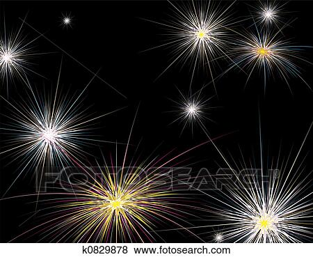 stock illustration fireworks new year fotosearch search eps clip art drawings