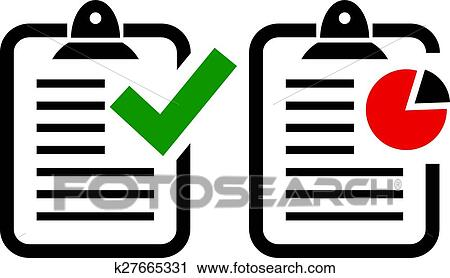 clipart of report icon k27665331 search clip art illustration rh fotosearch com report clipart pictures reporter clipart