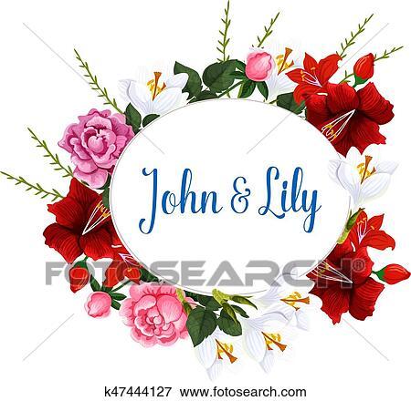 Clip Art Of Wedding Bouquet Design Of Vector Spring Flowers