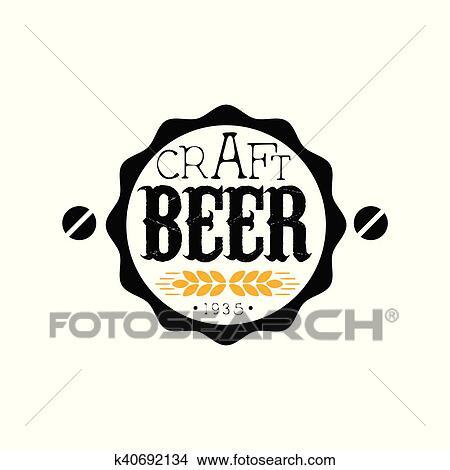 Arte Cerveja Redondo Logotipo Desenho Modelo Clipart