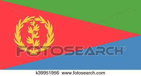 Download Flag of Eritrea in correct proportions and colors Clip Art | k39951956 | Fotosearch