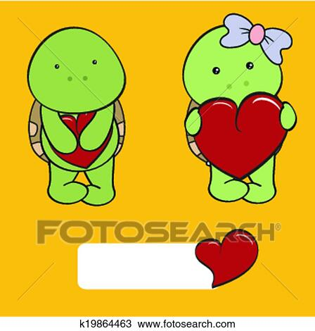 Clipart tortue b b dessin anim amour ensemble - Clipart amour ...