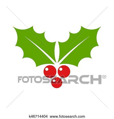 Clipart Agrifoglio Natale Simbolo K46714404 Cerca Clipart