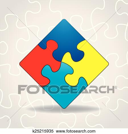 Clipart Of Autism Awareness Puzzle Pieces K25215935 Search Clip