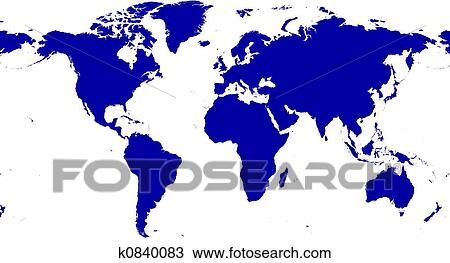 Karte Erde.Erde Karte Freigestellt Zeichnung