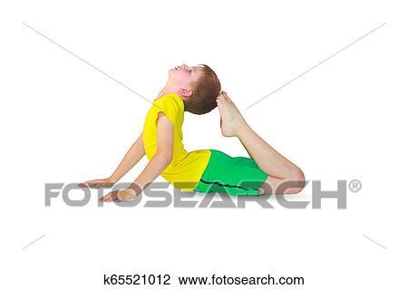 dhanurasana yoga stock image  k65521012  fotosearch