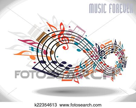 Clipart Of Forever Music Concept Infinity Symbol Made With Musical