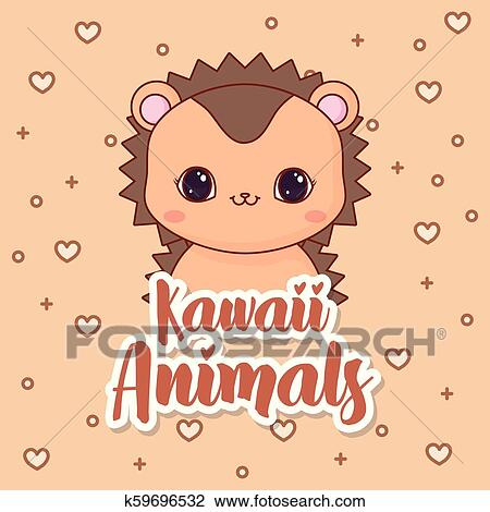Kawaii Animais Desenho Clipart K59696532 Fotosearch