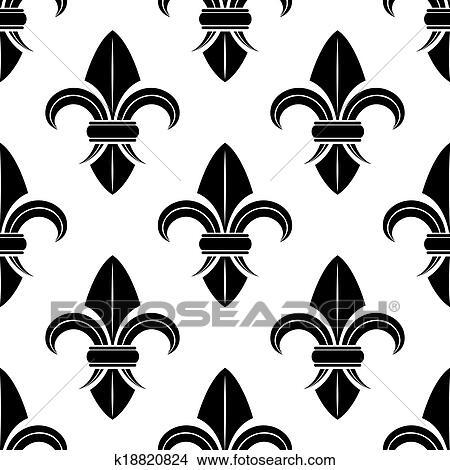 Clipart Noir Blanc Fleur Lys Modele K18820824 Recherchez Des