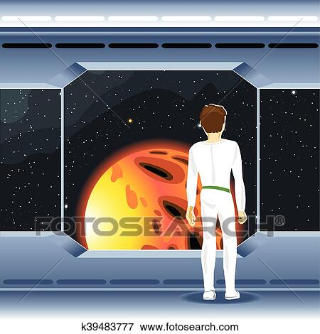 clip art of spacecraft interior view and window k39483777 search