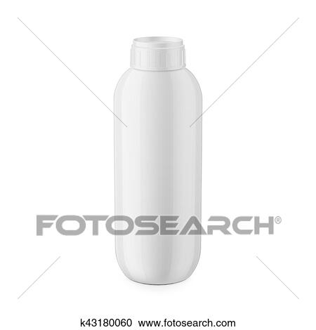 Round White Glossy Plastic Bottle With Cap For Shampoo Balm Shower Gel Lotion Body Milk Bath Foam 1 Liter Realistic Packaging Mockup Template