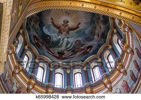 Interior Of The Cathedral Of Christ The Saviour The World