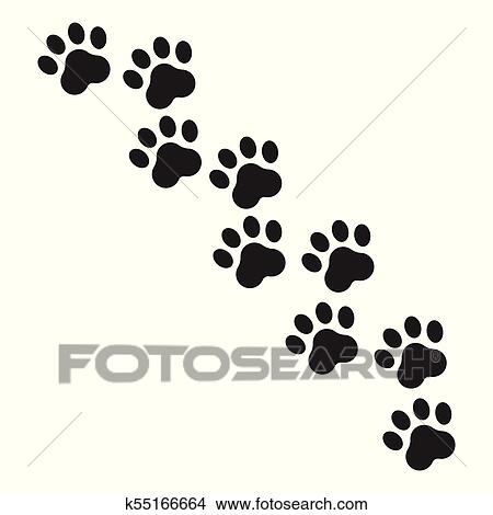 cf4bb4be0d92 Clipart - Paw print vector icon. Dog or cat pawprint illustration. Animal  silhouette.