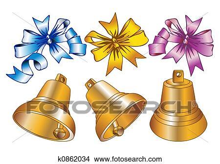 desenhos sinos natal k0862034 busca de ilustrações clip arte