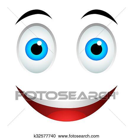 Sonrisa Emoticon Señal Clipart K32577740 Fotosearch