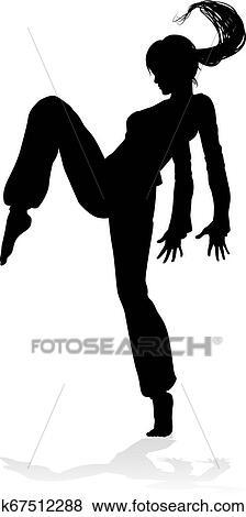 Street Dance Dancer Silhouette Clip Art K67512288 Fotosearch