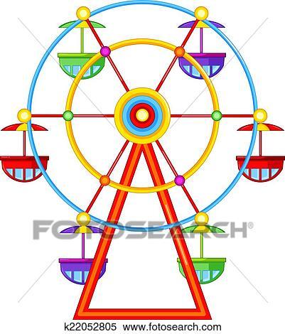 clipart of a ferris wheel ride k22052805 search clip art rh fotosearch com ferris wheel clipart black and white ferris wheel clip art free