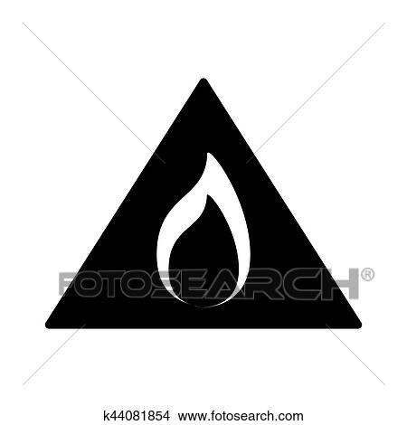 Clipart Of Black Flammable Warning Symbol Image K44081854 Search