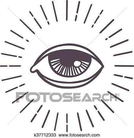 Eye Sun Vector Symbol Clipart