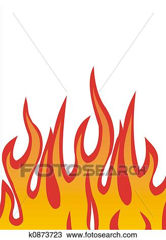 drawing of fire flames vector k0873723 search clipart rh fotosearch com flames vector png flames vector art free