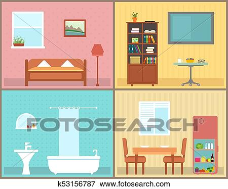 Furnishing Interior Rooms On Home Interior View House Rooms