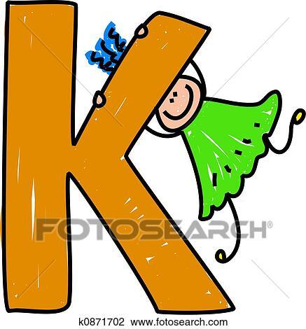 clip art of letter k girl k0871702 search clipart illustration rh fotosearch com letters clipart letter h clipart