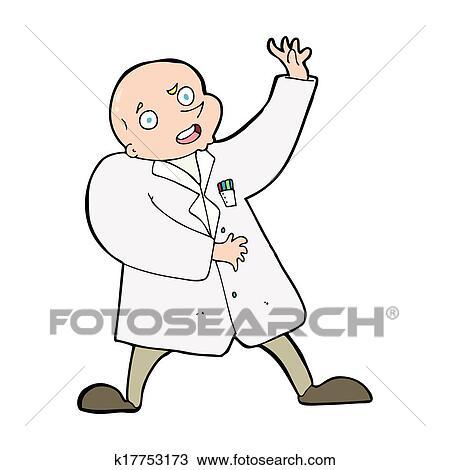 desenho caricatura cientista louco k17753173 busca de imagens