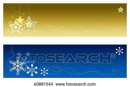 Christmas Banners.Christmas Banners 2 Stock Illustration