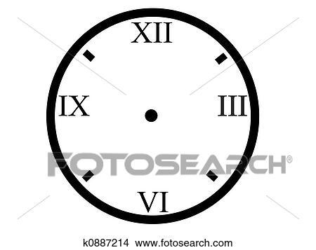 Faccia Orologio Disegni K0887214