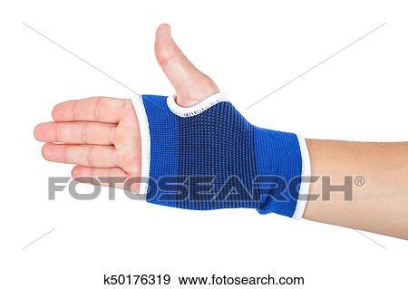 Male Hand With Elastic Bandage Isolated Stock Photo K50176319