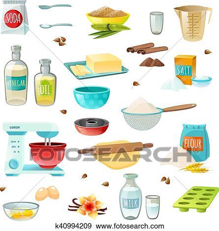 Baking Ingredients Clipart Clip Art of Bak...