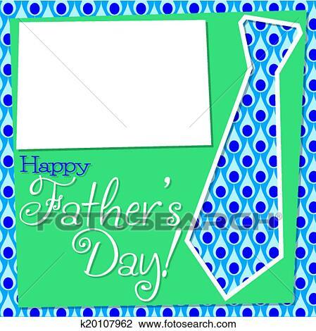 Día Padre Recortar Corbata Tarjeta En Vector Format