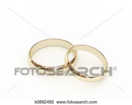 Clip Art Of Gold Wedding Rings K0892492 Search Clipart