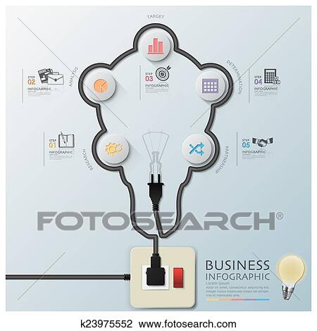 Clipart Of Light Bulb Shape Electric Wire Line Diagram Business