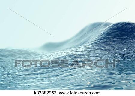 Kresba More Ocean Vlnitost Semknout Se S Ohnisko Effects 3