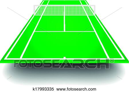 clipart of tennis court with perspective k17993335 search clip art rh fotosearch com tennis court clipart black and white