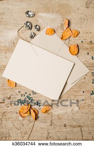 Blank Greeting Or Invitation Card And Envelope Picture