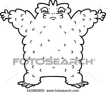 Clip Art Of Cartoon Yeti K53985809