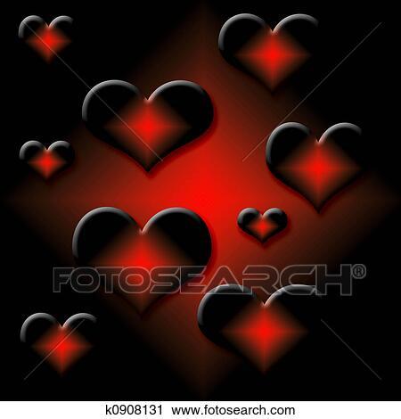 Clipart of hot hearts k0908131...