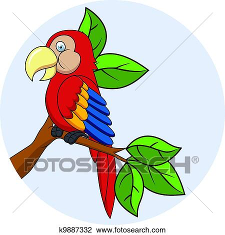 clipart of macaw cartoon k9887332 search clip art illustration rh fotosearch com macaw clipart free macaw clip art color