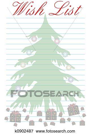Stock Illustration Of Wish List Christmas K0902487 Search Eps