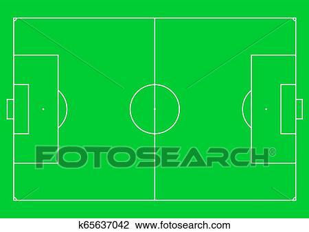 Fussballplatz Football Feld Oder Fussball Field