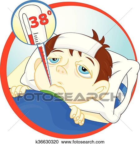 clipart of sick boy with a fever k36630320 search clip art rh fotosearch com fotosearch cliparts kostenlos fotosearch clip art free