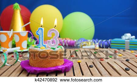 Enjoyable Birthday Cake With Candles On Rustic Wooden Table With Background Funny Birthday Cards Online Sheoxdamsfinfo