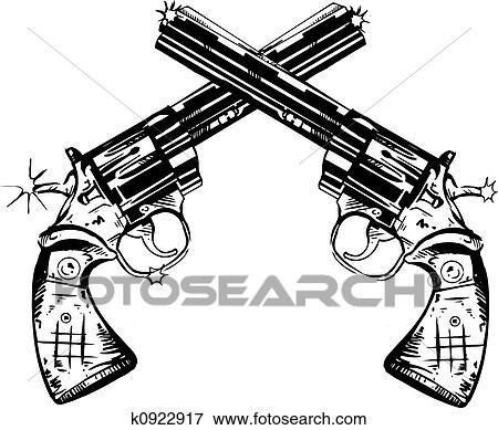 Stock Illustration Of Hand Guns K0922917
