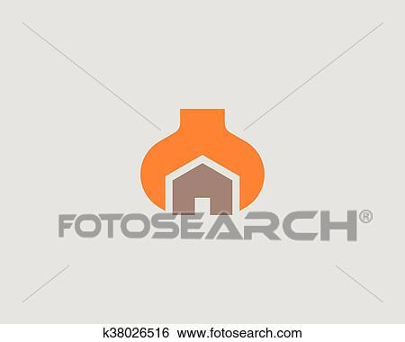House Repair Service Tool Shop Sign Logotype Creative Idea