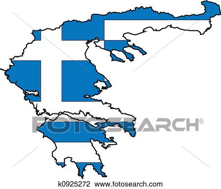 clip art of map greece k0925272 search clipart illustration rh fotosearch com Ancient Greece Maps for Students Ancient Greece Map Worksheet