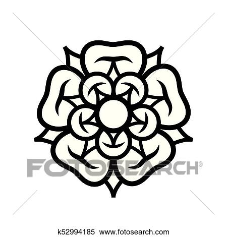 Clipart Of Rose Queen Of Flowers Emblem Of Love Beauty And