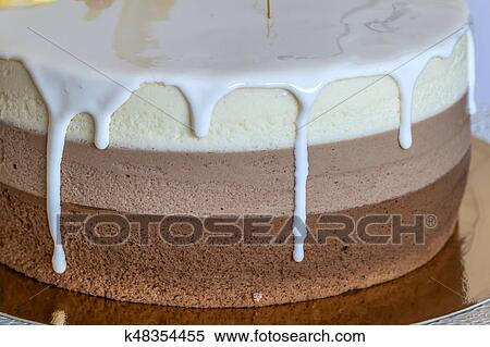 Amazing Delicious Homemade Chocolate Marble Birthday Cake Decorated With Funny Birthday Cards Online Elaedamsfinfo